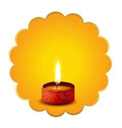 Hindu festival diwali diya background vector