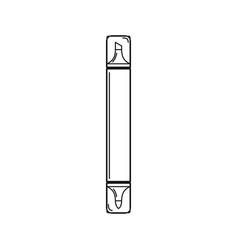 line marker pen icon vector image
