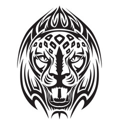 Lion head tattoo vintage engraving vector