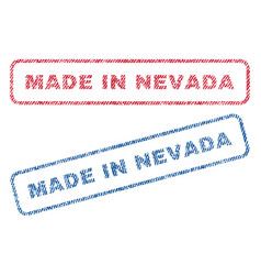 Made in nevada textile stamps vector