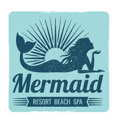 mermaid logo design vector image