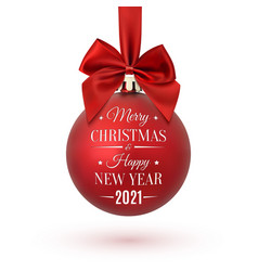 merry christmas and happy new year 2021 christmas vector image