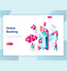 modern flat design isometric online banking vector image