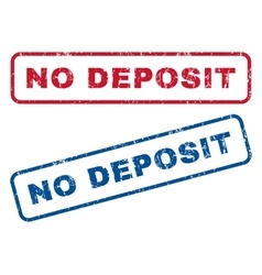 No Deposit Rubber Stamps vector