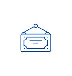 open label closed line icon concept open label vector image