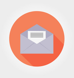 opened envelope with letter inside vector image