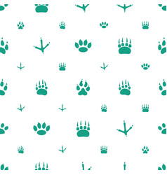Paw icons pattern seamless white background vector
