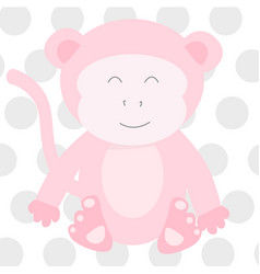 pink monkey vector image