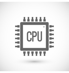 Processor chip icon vector