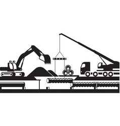 Replacement of underground pipelines vector