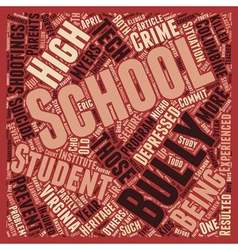 Schools Biggest Threat text background wordcloud vector