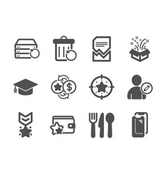 Set business icons such as loyalty program vector