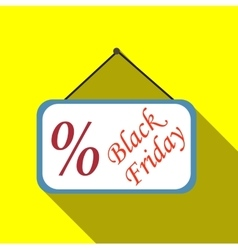 Sign sale black friday icon flat style vector