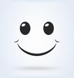 smile icon template design smiling emoticon vector image
