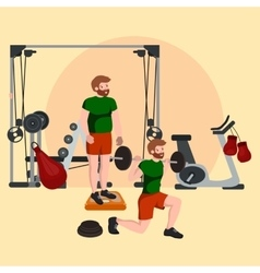 Sports and Fitness People Workout man in gym vector image