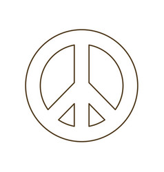 Symbol love and peace isolated icon vector