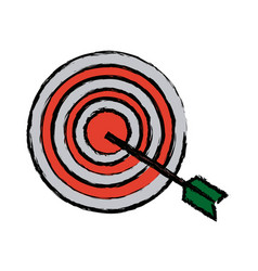 Target market consumer bullseye or goalnounce vector