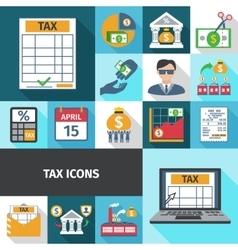Tax Flat Icon Set vector
