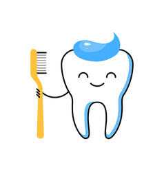 teeth cleaning thin line icon vector image