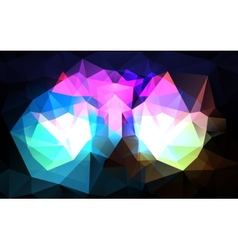 Triangular background vector image