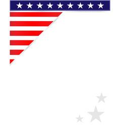 usa flag symbols patriotic corner border vector image