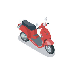 Vintage city scooter isometric 3d element vector