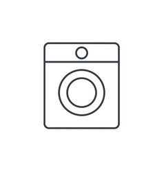 washing machine thin line icon linear vector image