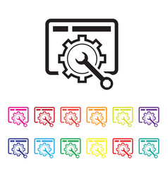 website maintenance icon set vector image