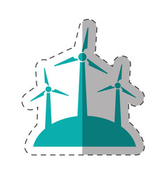 wind turbine energy environment design vector image