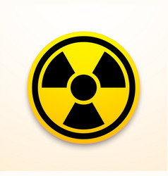 yellow and black radiation symbol isolated on vector image