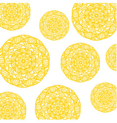 yellow mandala pattern vector image