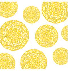 yellow mandala pattern vector image
