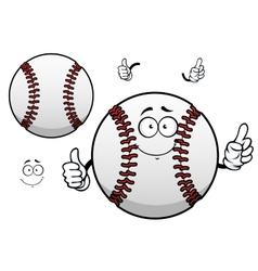 Cartoon baseball ball with thumb up vector image vector image