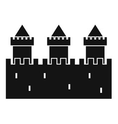 medieval wall and towers icon simple style vector image vector image