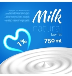 Milk elements design concept for your busines vector image vector image
