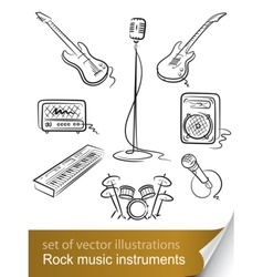 rock music instruments vector image