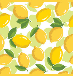summer pattern with lemons seamless texture design vector image vector image