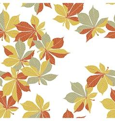 Autumn orange leaves seamless pattern vector image vector image