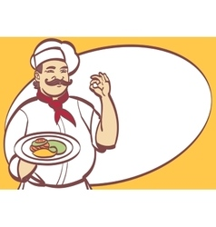 Cartoon Chef cool art for any design Eps vector image vector image