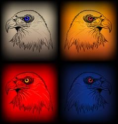 eagles sketch vector image
