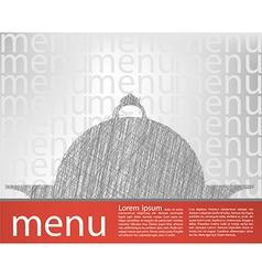 food tray menu template vector image vector image