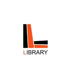 Library Education Logo Letter L consists of books vector image vector image