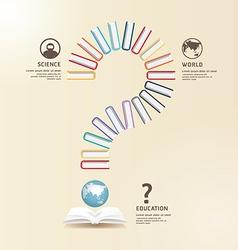 Questions Books Education Design concept vector image
