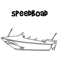 Speedboat of transportation art vector image
