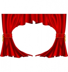 ter style curtains vector image