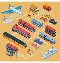 Transport Infographics Isometric Layout vector image
