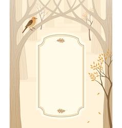 Autumn forest banner vector