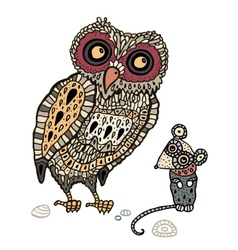 Owl Hand Drawn Decorative vector image vector image