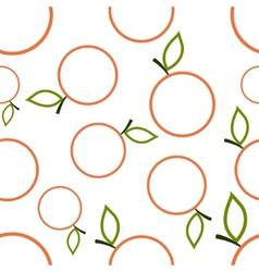 Pattern Circuit Mandarines vector image