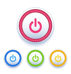 Power buttons icon set vector image
